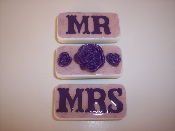 Mr Mrs Wedding Gifts: Wedding Shower Mr Mrs Gift Bridal Purple By