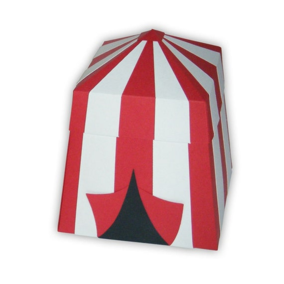 Reserved Carnival Circus Tent Favor Gift Boxes (custom colors available)