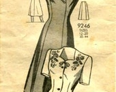 Reserved for Rebecca Custom Jumper From a Vintage 1940s Pattern Mail Order Pattern Vintage Sundress