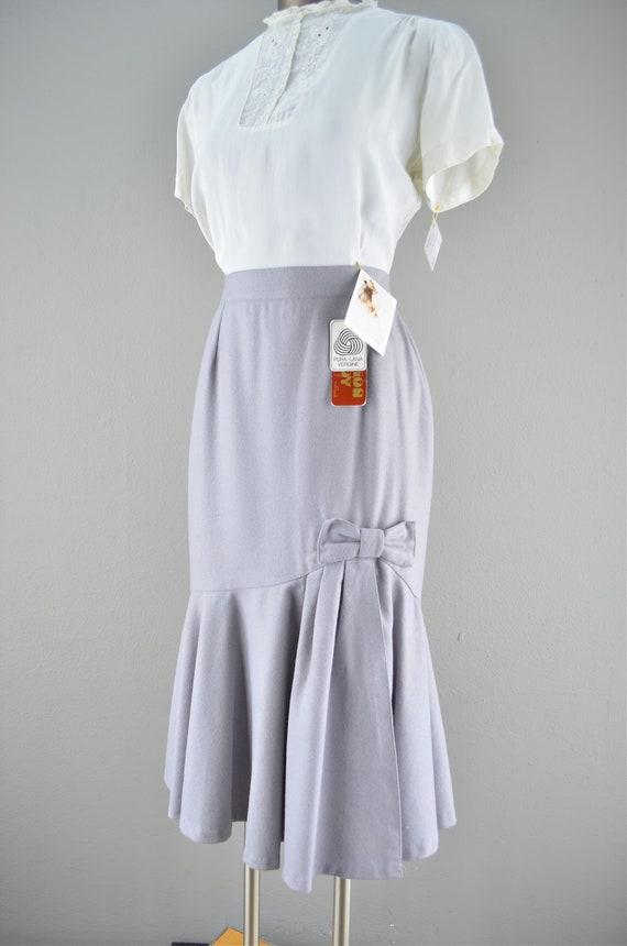 20 percent off fri sat sun coupon code blackfriday / 80s gray wool skirt / vintage Mermaid skirt / 1980s pencil skirt