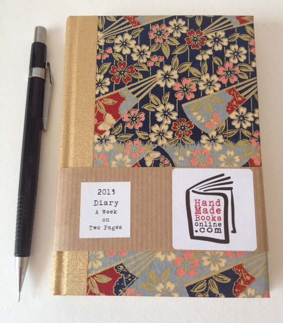 2013 Diary with Japanese Yuzen Paper Covers