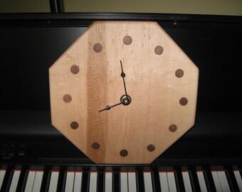 Birdseye Maple Octagon Clock