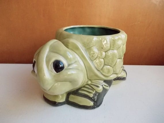 Turtle Planter Anthropomorphic Animal By