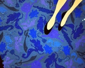 WENDY wendy loves peter pan.  limited edition signed & numbered archival print of wendy's flight to neverland over london