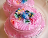 Cake Batter Cream Fluff Soap - Sweet Soap, Whipped Soap, Soap in a Jar, Birthday Gift, Pink, Sprinkles, Frosting, Gift For Her, Under 10