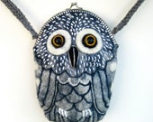OWL wet felted purse hand made one of a kind gift under 100