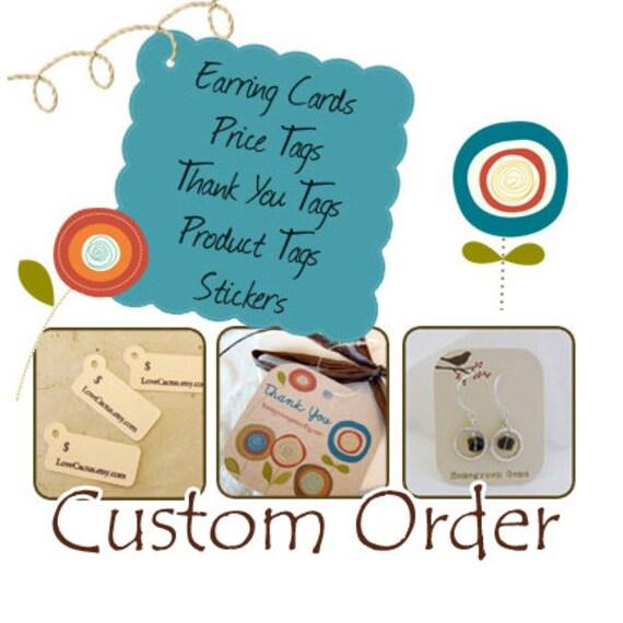 Custom Order Stickers for SixSistersBeadworks