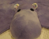 Purple Tie Dye Hippo Animal Blanket