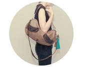 SALE brown leather Furrow bag / large slouchy bag / boho style