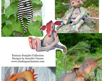 Fantasy Sampler Pattern, Delivered as PDF files, instand digital download