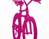 Bicycle Art - Fuchsia Mountain Bike