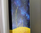 Cosmos Sun and Space painting acrylic on canvas 36x24x2