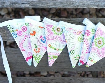 Fabric Bunting - Pretty paisley
