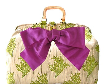 kiwi coral carpetbag, SALE was 325. reduced to 250.