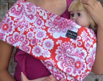 READY TO SHIP-Just Like Mommy Baby Doll Sling- Nelly-Free Shipping When Purchased With A Wrap-Works Well With The American Girl Dolls