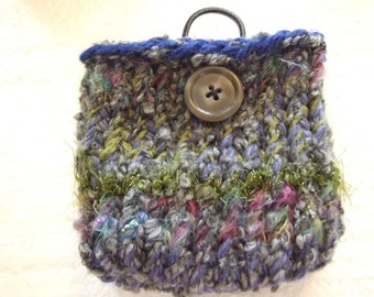 Earth forest tone Mini  Knit Bag and gadget case