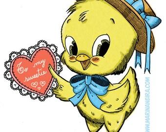 Chickie's Valentine (DIGI STAMP)