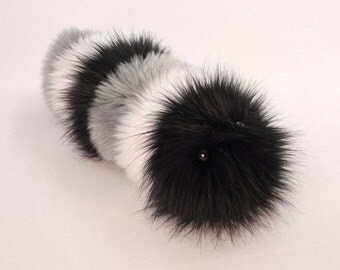 Stuffed Animal Caterpillar Cute Plush Toy Caterpillar Kawaii Plushie Ralph the Black Gray & White Snuggle Worm Fuzzy Toy Medium 6x18 inches
