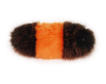Caterpillar Stuffed Animal Cute Plush Toy Caterpillar Wooly Bear the Orange and Black Snuggle Worm Cuddly Faux Fur Toy Small 5x14 Inches