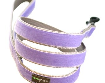Velvet Dog Leash to match your collar - 6'  - 14 styles to choose from