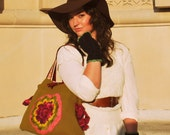 Lagelle's original upcycle sweater handbag