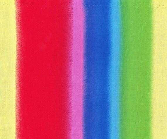 Rainbow Multi Color Stripes Fabric, Cotton.(Last Chance)