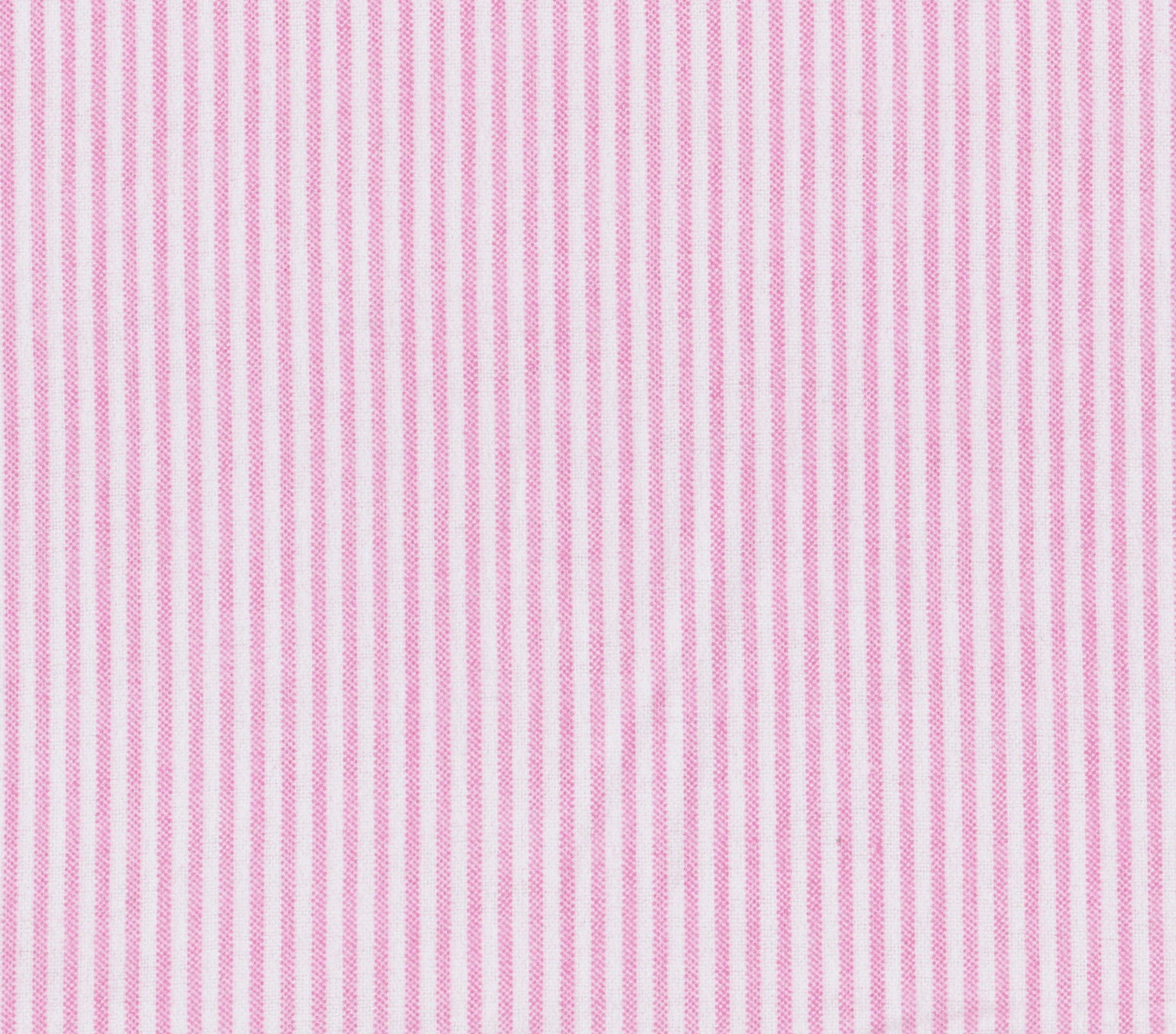 Pink And White Stripe Flannel Fabric 100% Cotton