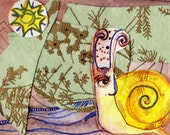 Snail Thoughts  2.5x3.5