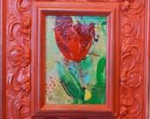Red Frame Flower