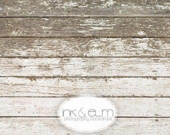 "Vinyl Backdrop 5ft x 5ft, Shabby Distressed Old White Wood, Photo Backdrop, Photography Backdrop Background Old Wood ""Old White Wood Planks"""