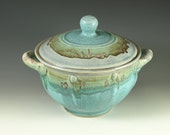 Casserole dish (Two Quart) in turquoise glaze, Great wedding gift , wheel thrown stoneware pottery