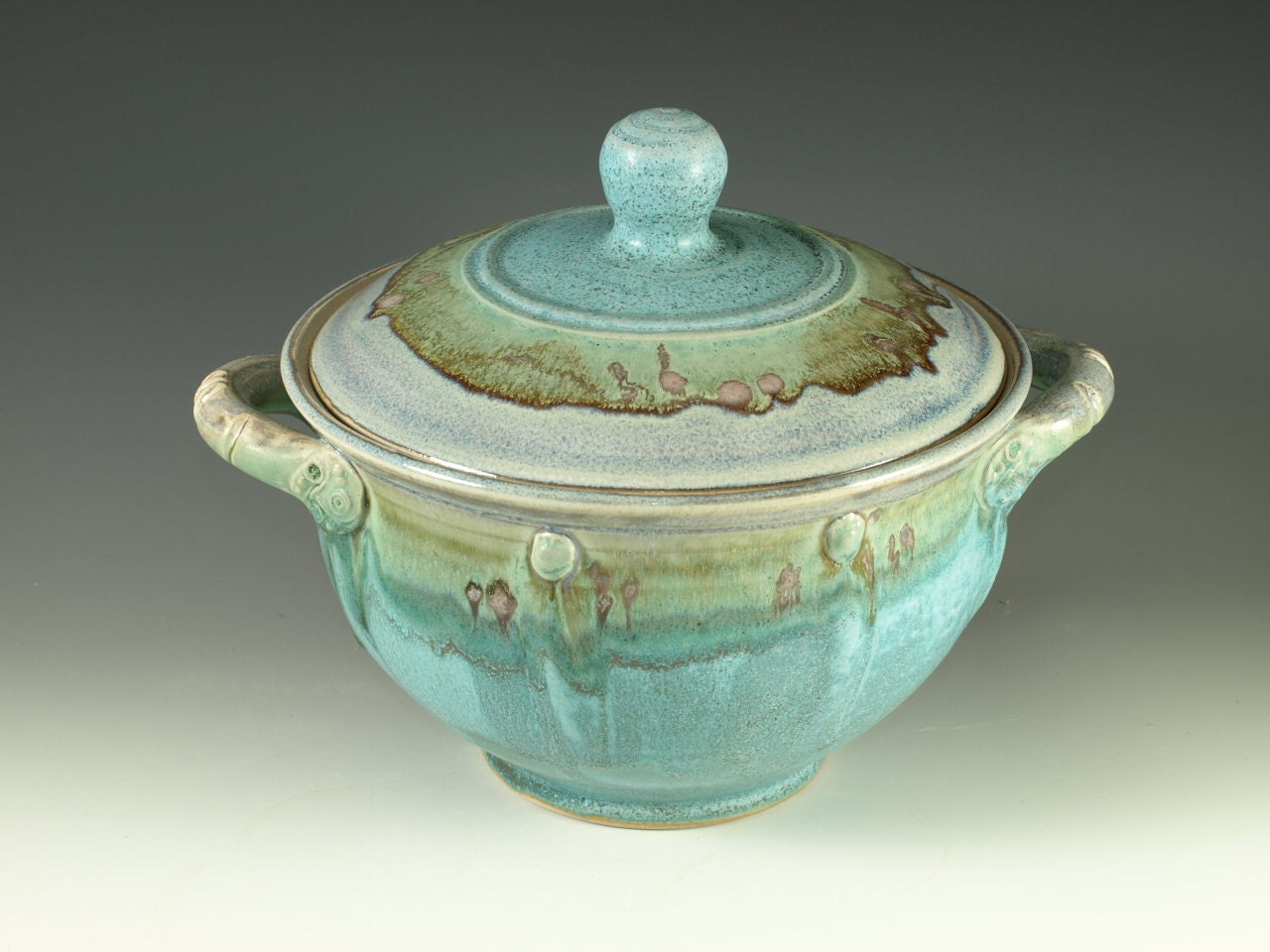 Casserole Dish Two Quart In Turquoise Glaze Great Wedding