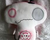 LolaLu Goth Mine Art Doll Creepy Cute Stuffie Monster Halloween Skull Top Hat Etsy Dark Team