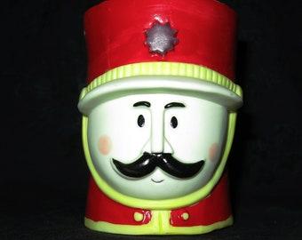 Vintage Soldier Boy Bisque Candle Holder