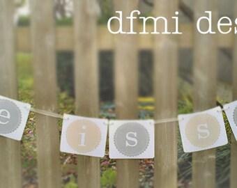 LOVE IS SWEET wedding reception dessert table banner