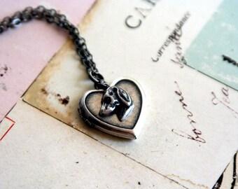 dog. locket necklace. silver ox jewelry