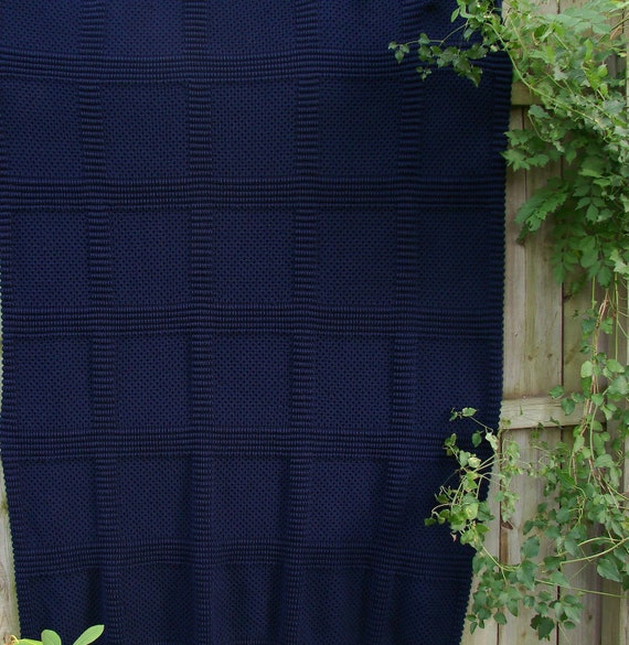 Afghan Lovely in Navy Blue