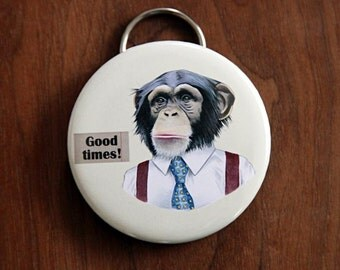 Chimpanzee Bottle Opener Keychain