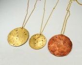far out constellation vacation BIG disc necklace