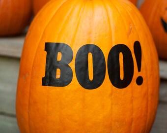 "Halloween Pumpkin Decals, ""BOO"", pumpkin decals, jack o lantern stickers, pumpkin stickers for front porch decor"
