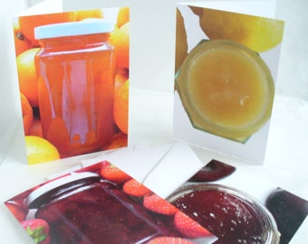 Blank Card,  Food Photography, Greetings Card,  Set of 4 or 10 Cards