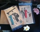 1940s Sewing Patterns For Dresses Lot Of 2