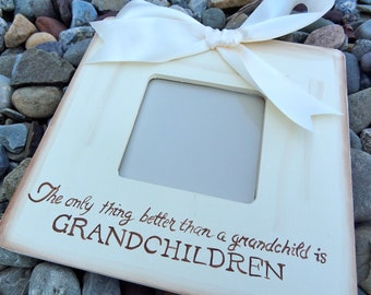 Ultrasound Sonogram Grandparent Picture Frame Announcement Gift New Baby The only thing better than a grandchild is grandchildren