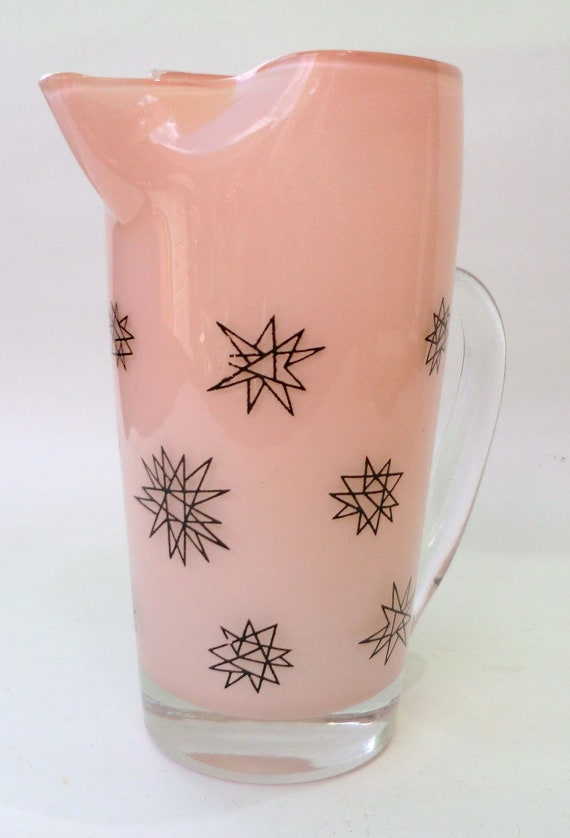 Pale Pink Vintage Martini Pitcher Atomic 50's