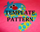 Fabric Applique TEMPLATE Pattern Only...MISTER MONSTER...New