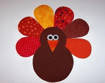 Applique PDF TEMPLATE Pattern ONLY Thanksgiving Turkey Bird