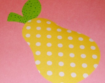Fabric Applique Pdf TEMPLATE Pattern ONLY....PEAR...New
