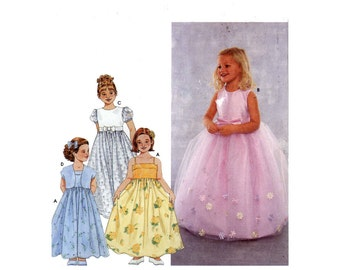 Simplicity 9147 Sewing pattern flower girl dress and jacket  Wedding party princess Size 6 to 8 UNCUT