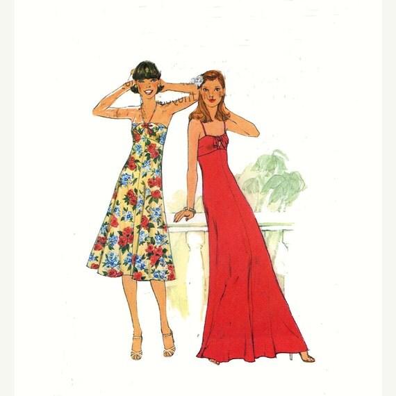 70s summer dress vintage sewing pattern Simplicity 8022 Empire waist Bust 36 Uncut