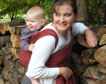 Tencel Baby Wrap Carrier - Pure Tencel - Non Stretchy - SALE - Cinnamon, Black, or Chocolate - 6 yd or under 5, lightweight